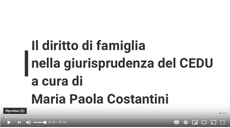 009.(Competenza del tribunale) - Foroeuropeo diritto_famiglia