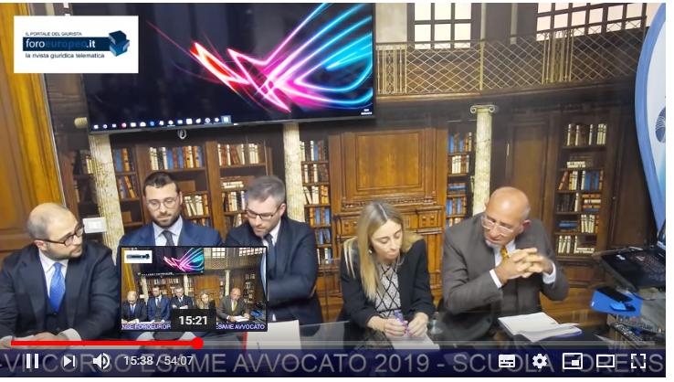 Foroeuropeo Rivista Giuridica Online - Avvocati (decisioni, pareri, C.N.F.) esame2019